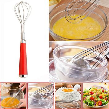 Stainless Steel Hand Whisk Mixer Balloon Egg Milk Beater Kitchen Cooking Tool