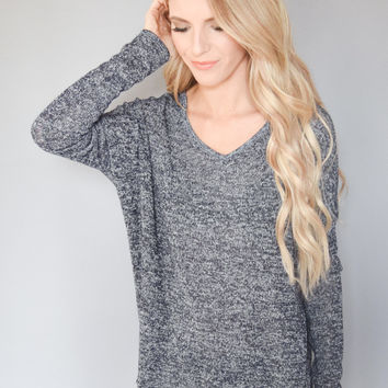 Alpine Lightweight Knit Top Navy
