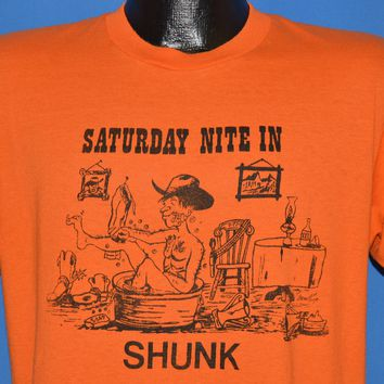 80s Saturday Nite In Shunk t-shirt Large