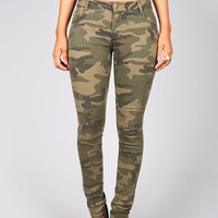Faded Camo Skinnys | Trendy Jeans at Pink Ice
