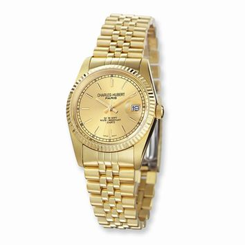 Mens Charles Hubert Ip-plated Gold-tone Dial Watch