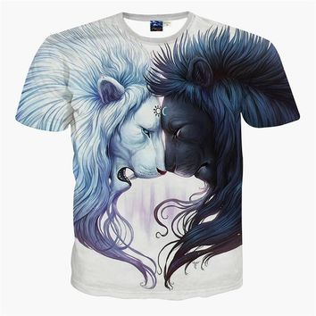 2016 Newest galaxy space printed creative t shirt 3d men's t shirt summer novelty 3D f