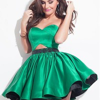 [79.99] Fabulous Satin Sweetheart Neckline Ball Gown Homecoming Dresses With Beads - dressilyme.com