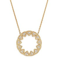 Dana Rebecca Designs14K Yellow Gold Emily Sarah Pendant Necklace with Diamonds, 24""
