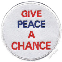 Peace Give Peace A Chance Patch on Sale for $3.99 at HippieShop.com