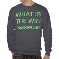 wifi pull over sweatshirt from Zazzle.com