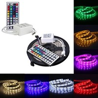 Enabled 5M 16.4Ft RGB 5050SMD 300LED Waterproof Flexible LED Light Strip lamp + 44Key IR Remote (Supports Max 5 meters of RGB LED flexible strips)