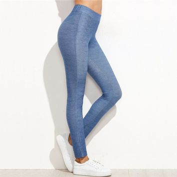 Denim Style Skinny Leggings