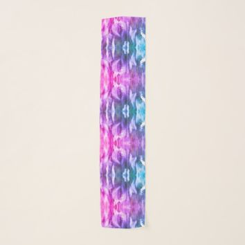 Kaleidoscope Windy Grass Turquoise Pink Scarf