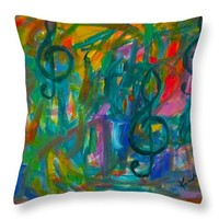 Treble Play Throw Pillow