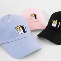 Sushi Corgi Dad Hats