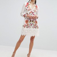 French Connection Legere Lace Dress at asos.com