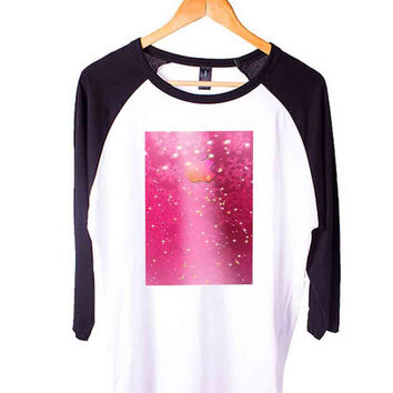 ABSTRACK Short Sleeve Raglan - White Red - White Blue - White Black XS, S, M, L, XL, AND 2XL*AD*