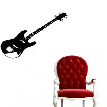 Guitar Rock Band Rock Decor Wall Art Sticker Decal Ar763