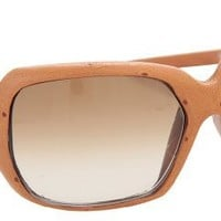 Spy Dynasty Sunglasses Tan Ostrich/Bronze Fade Lens Wms