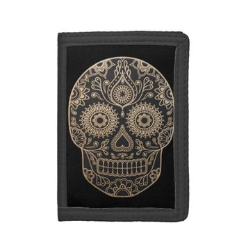 Day Dead Sugar Skull TriFold Nylon Wallet