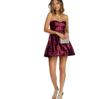 Kayla- Burgundy Prom Dress