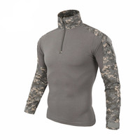 Camouflage military uniform us army combat shirt with pads