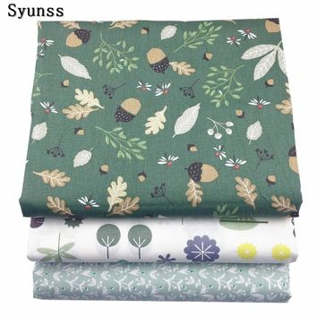 Syunss New Floral Printed Twill Cotton Fabric DIY Handmade Sewing Patchwork Baby Cloth Bedding Textile Quilting Tilda Tissus