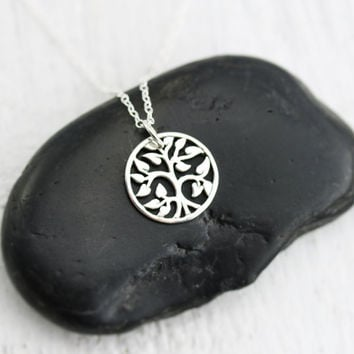 Tiny Tree of Life Necklace - Sterling Silver Tiny Tree of Life Charm - Family Tree Necklace - Elegant Tree Charm - Tree Jewelry -Dainty Tree