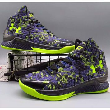Under Armour Curry 1 Generation SC Basketball Boots F-A36H-MY Purple/Green