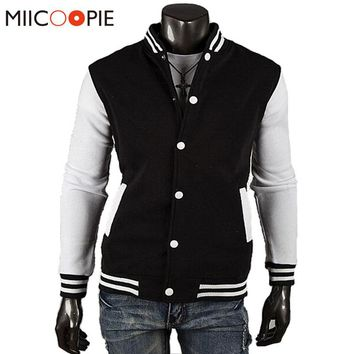 New Brand Spring Autumn Men's Classic Baseball Varsity Jacket Outwear Casual Slim Coat Hoodie College Sportswear Bomber Jackets