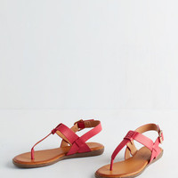 ModCloth We've Yacht a Situation Sandal in Fuchsia