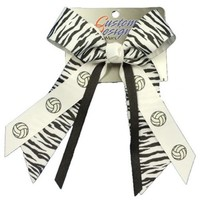 $5 - $8.99 | Zebra Volleyball Hair Bow