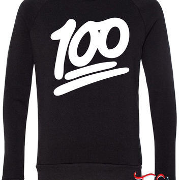 100 fleece crewneck sweatshirt