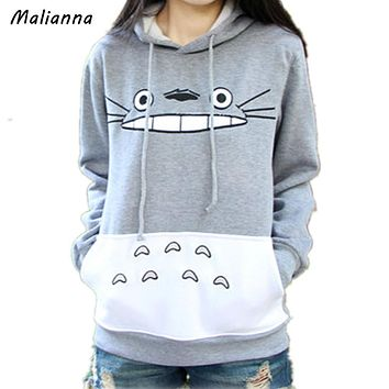 Totoro Hooded Fleece Long Sleeve Character Printed New arrival Adult Unisex Japanese Anime My Neighbor Man And Female Tracksuit