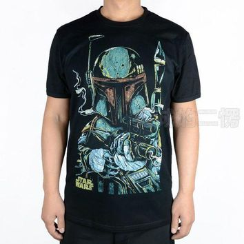 CREY6F T-shirt star wars boba fett sketch cosplay costume tshirt tee