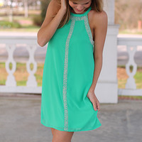Party In Pearls Dress, Green