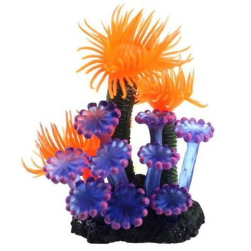 ac NOOW2 fish aquarium decorations Home Soft Artificial Resin Coral Fish Tank Aquarium Lovely Decoration XT