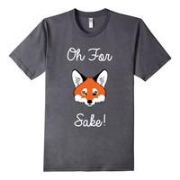 Men's Oh For Fox Sake Funny Fox Hound T-Shirt Small Asphalt
