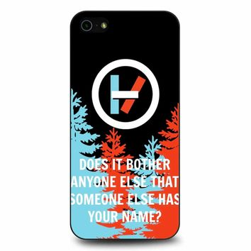 Twenty One Pilots Quote 2 iPhone 5/5s/SE Case