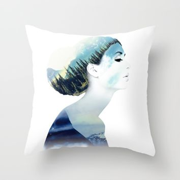 Women Throw Pillow by RIZA PEKER
