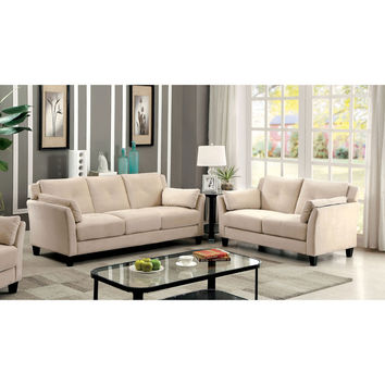 Furniture of America Pierson Contemporary 2-piece Flannelette Sofa Set | Overstock.com Shopping - The Best Deals on Sofas & Loveseats