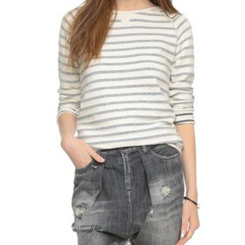 Maison Scotch Basic Striped Sweatshirt