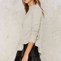 Nasty Gal Cordelia Ruffle Sweater