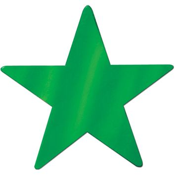 Foil Star Cutout - Green #G0485