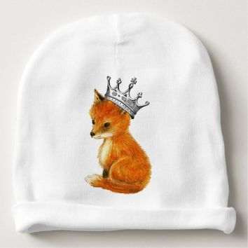 Baby Fox Vintage Crown Baby Hat Baby Beanie