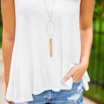 Iconic Tassel Necklace - Gold