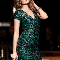 Sequin V-neck Dress - Victoria's Secret