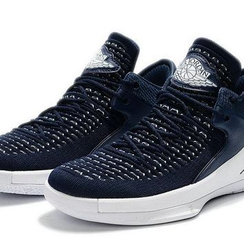 Buy 2018 Air Jordan 32 Low PE White Navy Blue Brand sneaker