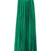 Crown Jewels Pleated Maxi Skirt - Emerald Green