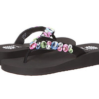Yellow Box Belicia Multi Coloured Rhinestone Flip Flops