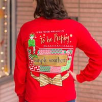 Simply Southern Long Sleeve Preppy Elf Tee