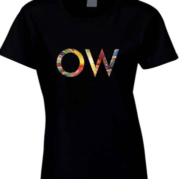 Oh Wonder Title Technicolour Beat Mask  Womens T Shirt