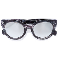 Wowie Zowie Grey and Silver Mirrored Sunglasses