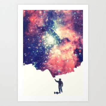 Painting the universe Art Print by badbugs_art